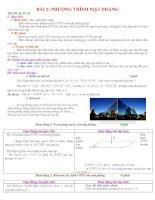 Bài soạn Bài 2: Phương Trình Mặt Phẳng tiết 30