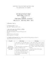 Bài giảng kẾ HOẠCH DẠY HỌC KỲ 2