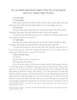 SỰ CẦN THIẾT PHẢI HOÀN THIỆN CÔNG TÁC TUYỂN DỤNG NHÂN LỰC TRONG MỘT TỔ CHỨC