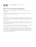 what u can do about the headaches