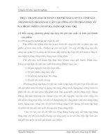 THỰC TRẠNG HẠCH TOÁN CHI PHÍ XÂY LẮP VÀ TÍNH GIÁ THÀNH SẢN PHẨM XÂY LẮP TẠI CÔNG TY CỔ PHẦN ĐẦU TƯ VÀ PHÁT TRIỂN CƠ SỞ HẠ TẦNG QUẢNG TRỊ