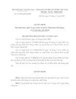 Quyết định 83 về quy trình KDCLGD