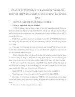 CƠ SỞ LÝ LUẬN VỀ TỔ CHỨC HẠCH TOÁN TÀI SẢN CỐ ĐỊNH VỚI VIỆC NÂNG CAO HIỆU QUẢ SỬ DỤNG TÀI SẢN CỐ ĐỊNH