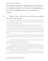 HOÀN THIỆN CHƯƠNG TRÌNH KIỂM TOÁN KHOẢN VAY TRONG KTBCTC TẠI CÔNG TY TNHH DỊCH VỤ TƯ VẤN TÀI CHÍNH KẾ TOÁN VÀ KIỂM TOÁN (AASC)