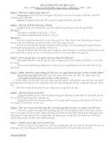 ĐỀ CƯƠNG + ĐÁP ÁN GDCD LỚP SÁU HKI - 10-11