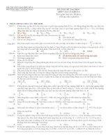 Đề thi thử Vật lý 2010 - của các trường ĐH2