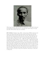 Bài giảng Tiểu sử chủ tịch Hồ Chí Minh