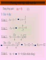 Phương trình và bất phương trình bậc nhất một ẩn