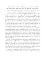MỘT SỐ PHƯƠNG HƯỚNG VÀ GIẢI PHÁP NHẰM THÚC ĐẨY TĂNG TRƯỞNG VÀ PHÁT TRIỂN KINH TẾ XÃ HỘI TỈNH BẮC KẠN ĐẾN 2010