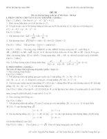 Đề thi thử Đại học môn Toán năm 2009 - Cấu trúc BGD (Cực hot - có đáp án)