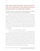 MỘT SỐ KIẾN NGHỊ NHẰM HOÀN THIỆN HẠCH TOÁN TIÊU THỤ THÀNH PHẨM VÀ XÁC ĐỊNH KẾT QUẢ KINH DOANH TẠI CÔNG TY CỔ PHẦN DỆT HÀ ĐÔNG