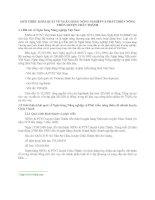 GIỚI THIỆU KHÁI QUÁT VỀ NGÂN HÀNG NÔNG NGHIỆP VÀ PHÁT TRIỂN NÔNG THÔN HUYỆN CHÂU THÀNH