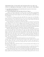 TÌNH HÌNH THỰC VỀ TỔ CHỨC KẾ TOÁNNGUYÊN VẬT LIỆU TẠI CÔNG TY CHẾ BIẾNLƯƠNGTHỰC VÀ THỨC ĂN GIA SÚC THÁI BÌNH