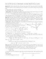Các bài tập ôn tập hay và khó lớp 10NC