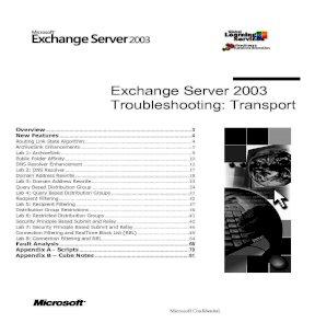 Exchange Server 2003 Troubleshooting: Transport