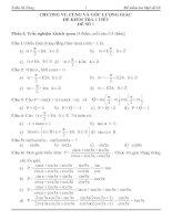 Tài liệu Kiểm tra 1 tiết Đại số 10 chương 6