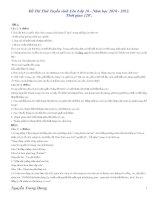 Bài giảng DE THI TUYEN LEN 10 NAM 2010-2011