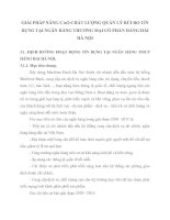 GIẢI PHÁP NÂNG CAO CHẤT LƯỢNG QUẢN LÝ RỦI RO TÍN DỤNG TẠI NGÂN HÀNG THƯƠNG MẠI CỔ PHẦN HÀNG HẢI HÀ NỘI