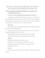 MỘT SỐ GIẢI PHÁP NHẰM GÓP PHẦN QUẢN LÝ XÂY DỰNG VÀ THỰC HIỆN CHIẾN LƯỢC KINH DOANH CỦA CÔNG TY 20