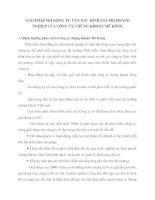 GIẢI PHÁP MỞ RỘNG TƯ VẤN XÁC ĐỊNH GIÁ TRỊ DOANH NGHIỆP CỦA CÔNG TY CHỨNG KHOÁN MÊ KÔNG