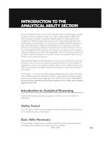 Hungry Minds Cliffs Gre_INTRODUCTION TO THE ANALYTICAL ABILITY SECTION