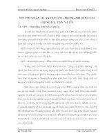 MỘT SỐ NHÂN TỐ ẢNH HƯỞNG TRONG MÔ HÌNH CÁC HỆ SỐ P-E, P-BV VÀ P-S