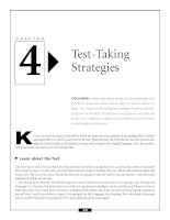 Preparing for the GED - Test-Taking Strategies