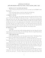Bài giảng KẾ HOẠCH TỔ CHUYÊN MÔN K1,2,3 NĂM HỌC 2010-2011