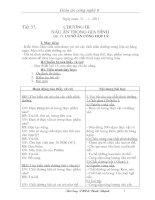 Bài giảng Giao an Cong nghe 6 ki 2 ( 2010 - 20110