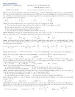 Bài soạn Đề thi thử ĐH Môn Vật lý _Đề số 7