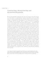 Constructing, deconstructing and reconstructing gender