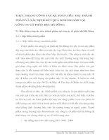 THỰC TRẠNG CÔNG TÁC KẾ TOÁN TIÊU THỤ THÀNH PHẨM VÀ XÁC ĐỊNH KẾT QUẢ KINH DOANH TẠI CÔNG TY CỔ PHẦN DỆT HÀ ĐÔNG