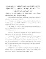 HOÀN THIỆN PHÂN TÍCH TÌNH HÌNH TÀI CHÍNH TẠI CÔNG TY CỔ PHẦN CHẾ TẠO MÁY BIẾN THẾ VÀ VẬT LIỆU ĐIỆN HÀ NỘI