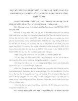 MỘT SỐ GIẢI PHÁP PHÁT TRIỂN CÁC DỊCH VỤ NGÂN HÀNG TẠI CHI NHÁNH NGÂN HÀNG NÔNG NGHIỆP VÀ PHÁT TRIỂN NÔNG THÔN HÀ NỘI