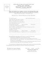 BM.GTVT.02 - Đơn xin đổi giấy phép lái xe cơ giới đường bộ (dùng cho người nước ngoài)