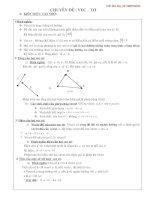 kiến thức và bài tập+đáp án hình học vecto