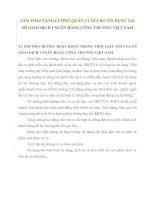 GIẢI PHÁP TĂNG CƯỜNG QUẢN LÝ RỦI RO TÍN DỤNG TẠI SỞ GIAO DỊCH I NGÂN HÀNG CÔNG THƯƠNG VIỆT NAM