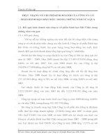 THỰC TRẠNG VỀ CHI PHÍ KINH DOANH CỦA CÔNG TY CỔ PHẦN BÁNH KẸO HẢI CHÂU TRONG NHỮNG NĂM VỪA QUA