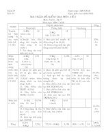 Bài soạn DE KIEM TRA 1 TIET LI 9- CO MA TRAN VA DAP AN