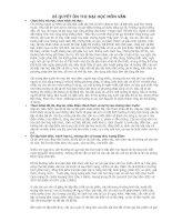 Tài liệu BÍ QUYẾT ÔN THI ĐẠI HỌC MÔN VĂN