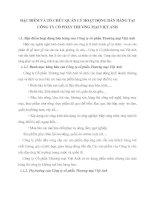 ĐẶC ĐIỂM VÀ TỔ CHỨC QUẢN LÝ HOẠT ĐỘNG BÁN HÀNG TẠI CÔNG TY CỔ PHẦN THƯƠNG MẠI VIỆT ANH