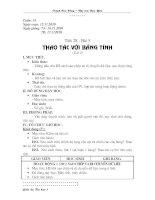 Tiết 28 - Thao tác với bảng tính (t2)