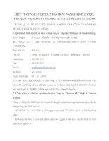 THỰC TẾ CÔNG TÁC KẾ TOÁN BÁN HÀNG VÀ XÁC ĐỊNH KẾT QUẢ BÁN HÀNG TẠI CÔNG TY CỔ PHẦN MĨ THUẬT VÀ TRUYỀN THÔNG