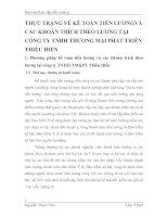 THỰC TRẠNG VỀ KẾ TOÁN TIỀN LƯƠNGVÀ CÁC KHOẢN TRÍCH THEO LƯƠNG TẠI CÔNG TY TNHH THƯƠNG MẠI PHÁT TRIỂN THIỀU HIỀN