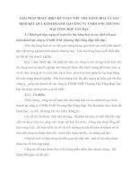 GIẢI PHÁP HOÀN  HIỆN KẾ TOÁN TIÊU THỤ HÀNG HOÁ VÀ XÁC ĐỊNH KẾT QUẢ KINH DOANH TẠI CÔNG TY TNHH XNK THƯƠNG MẠI TỔNG HỢP TẤN ĐẠT