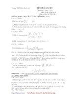 Thi thử ĐH môn Toán khối ABD_THPT Gia Bình số 1 [2009-2010]