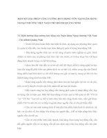 MỘT SỐ GIẢI PHÁP TĂNG CƯỜNG HUY ĐỘNG VỐN TẠI NGÂN HÀNG NGOẠI THƯƠNG VIỆT NAM CHI NHÁNH QUẢNG NINH