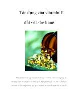 Tác dụng của vitamin E đối với sức khoẻ