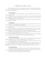 Bài giảng Những điều mẹ dạy con gái