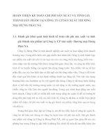 HOÀN THIỆN KẾ TOÁN CHI PHÍ SẢN XUẤT VÀ TÍNH GIÁ THÀNH SẢN PHẨM TẠI CÔNG TY CP SẢN XUẤT THƯƠNG MẠI HƯNG PHÁT NA